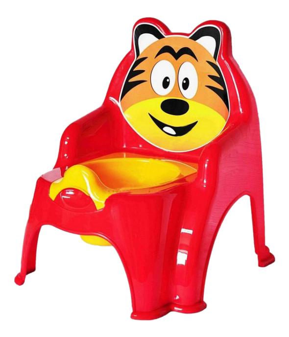 Горшок детский Doloni Тигра красный