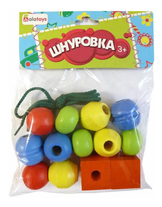 Купить Шнуровка Alatoys Разные геометрические формы , Алатойс, Шнуровки для детей