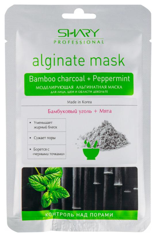 Маска для лица SHARY Professional Моделирующая альгинатная Бамбуковый уголь+мята 28 г