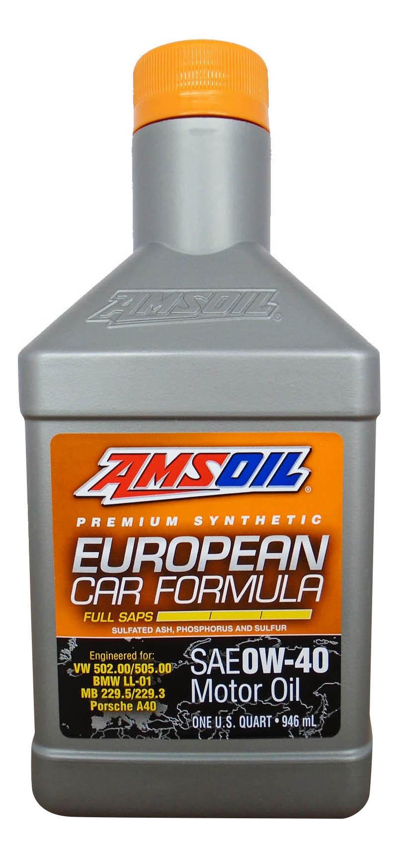 Моторное масло Amsoil European Car Formula 0W-40 0,946л
