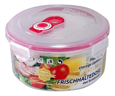 Контейнер для хранения пищи STAHLBERG Вакуумный 1150 мл розовый фото