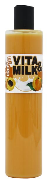 Гель для душа VITAMILK Абрикос и молоко 350 мл