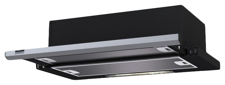 Вытяжка встраиваемая KRONAsteel Kamilla slim 600 Silver/Black