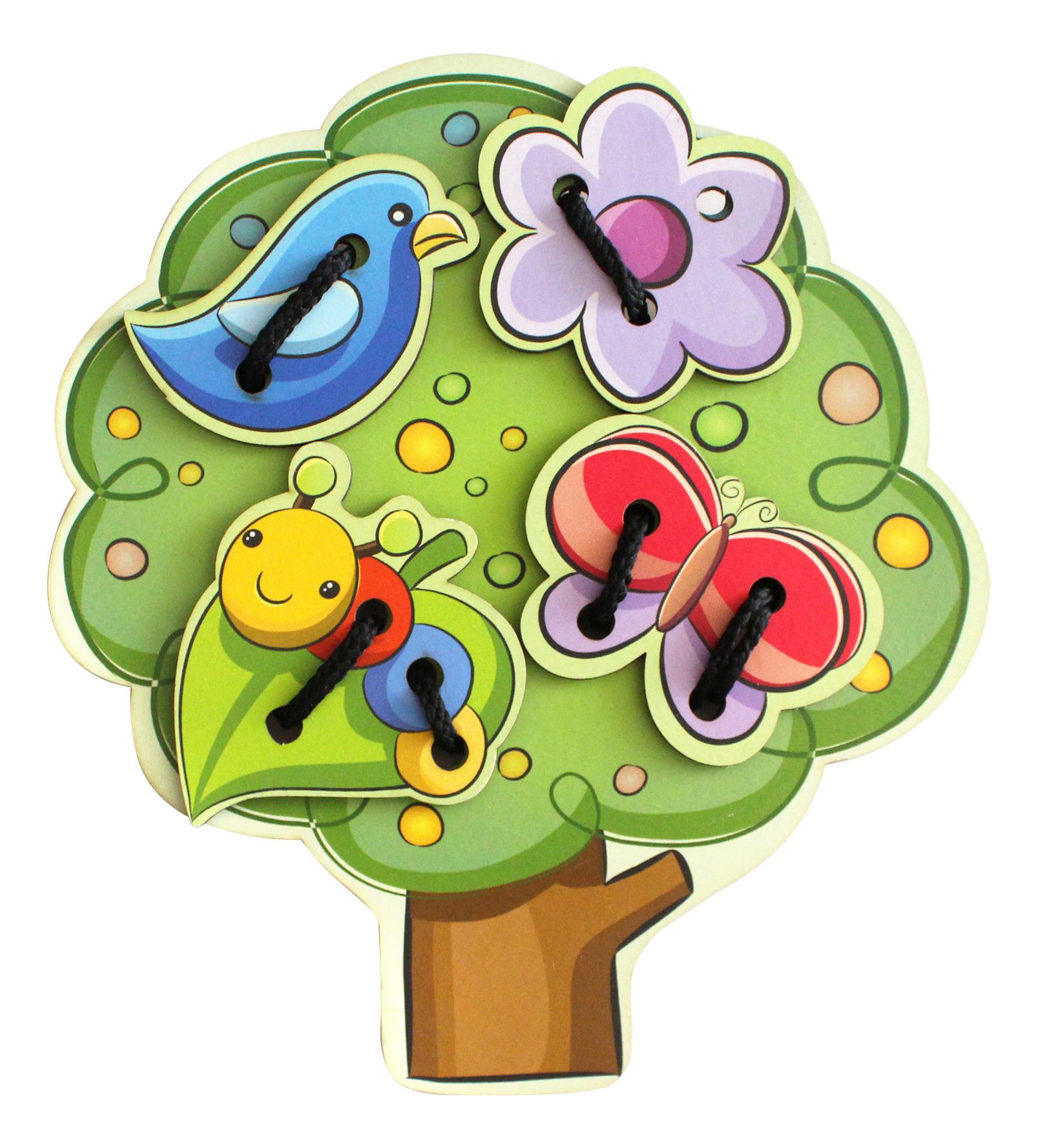 Купить Дерево, Шнуровка Мастер игрушек Дерево, Шнуровки для детей