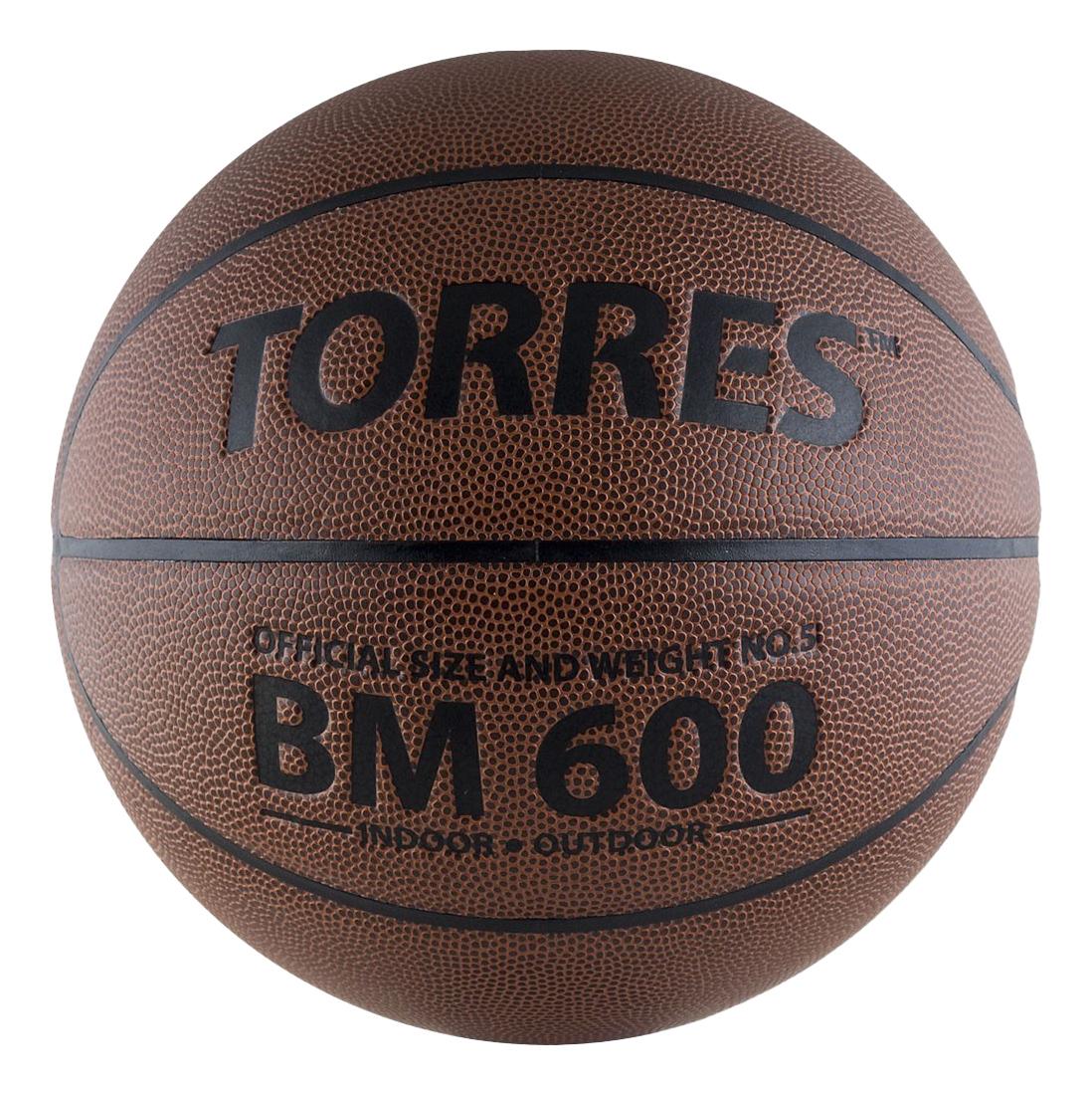 Баскетбольный мяч Torres B10025 №5 brown фото