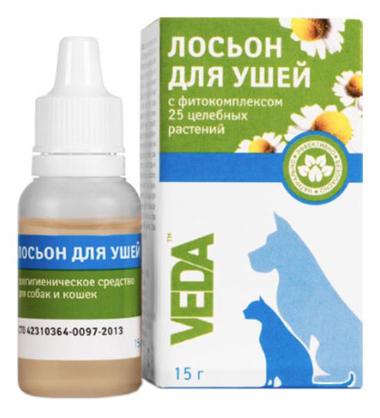 Лосьон для домашних животных VEDA коробка, флакон