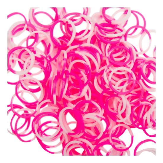 Rainbow Loom Набор резинок для плетения браслетов Rainbow Loom розово белый B0041