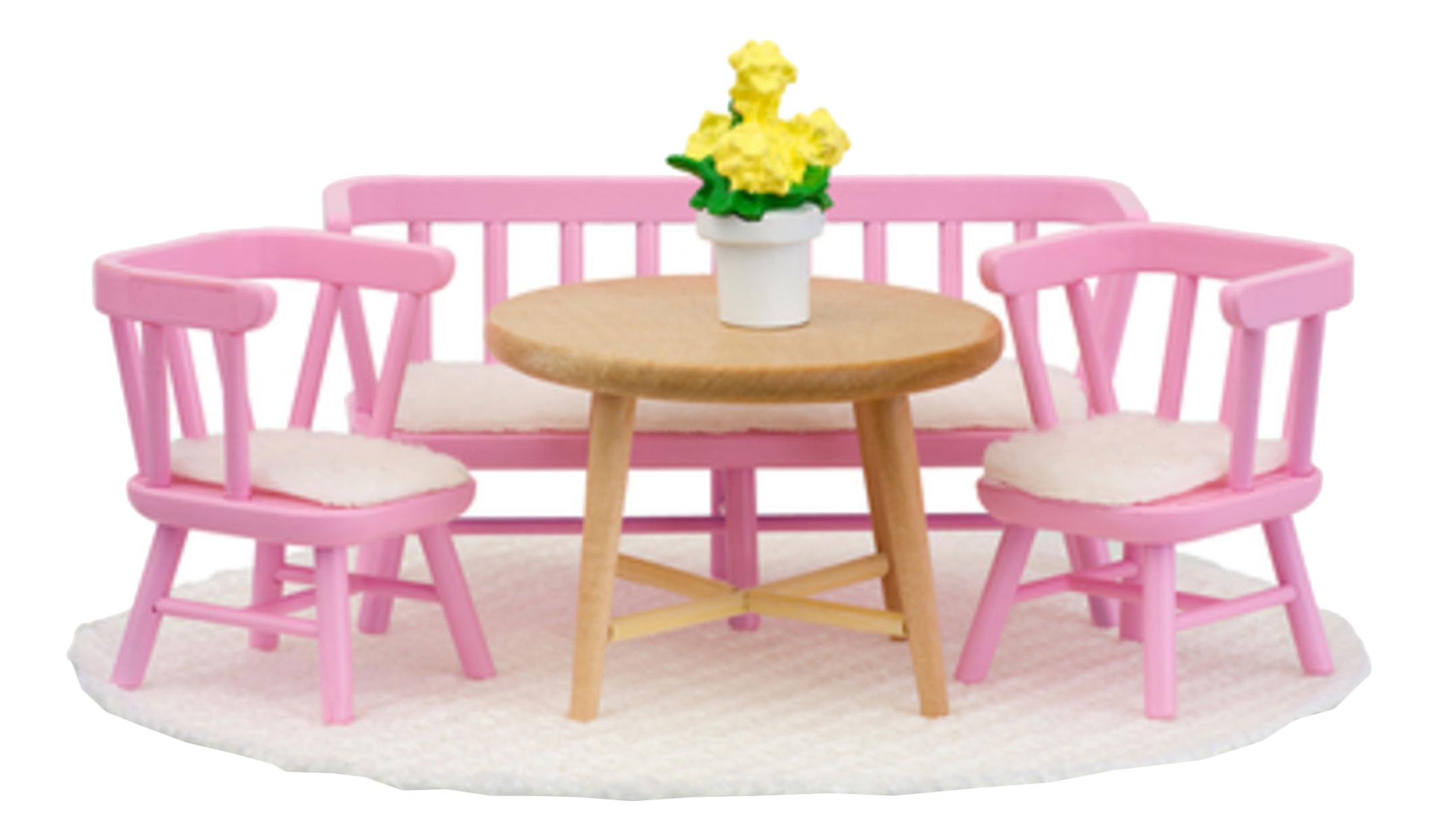 Смоланд Обеденный уголок розовый LB_60207900 для домиков Lundby фото