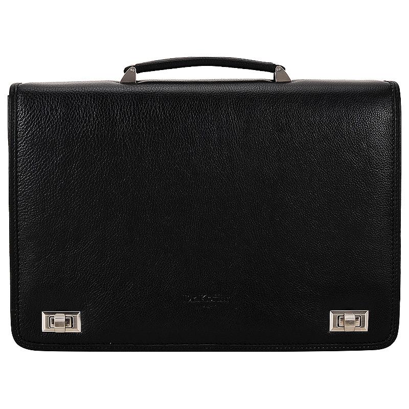 Портфель кожаный Dr. Koffer P402106-02-04 черный фото