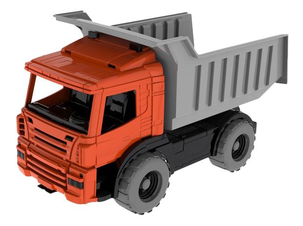 Строительный автомобиль Самосвал красно-серый Нордпласт фото