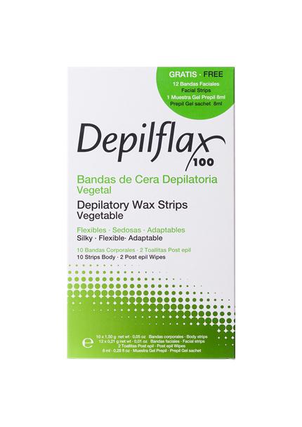 Полоски для депиляции Depilflax С воском 10 шт