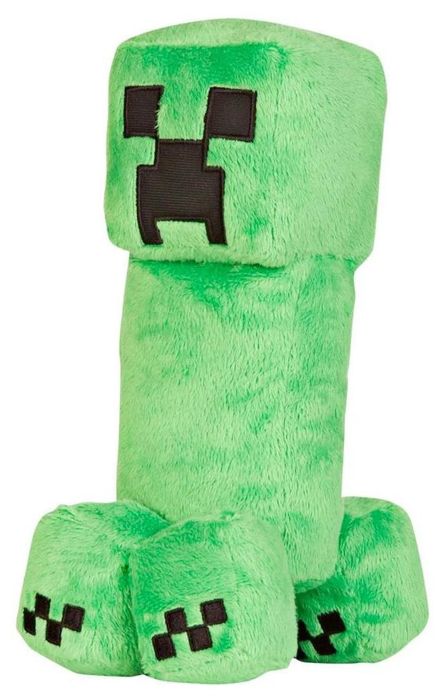 Игрушка антистресс Creeper, Мягкая игрушка Jazwares Creeper Крипер из плюша Minecraft 18 см, Мягкие игрушки персонажи  - купить со скидкой