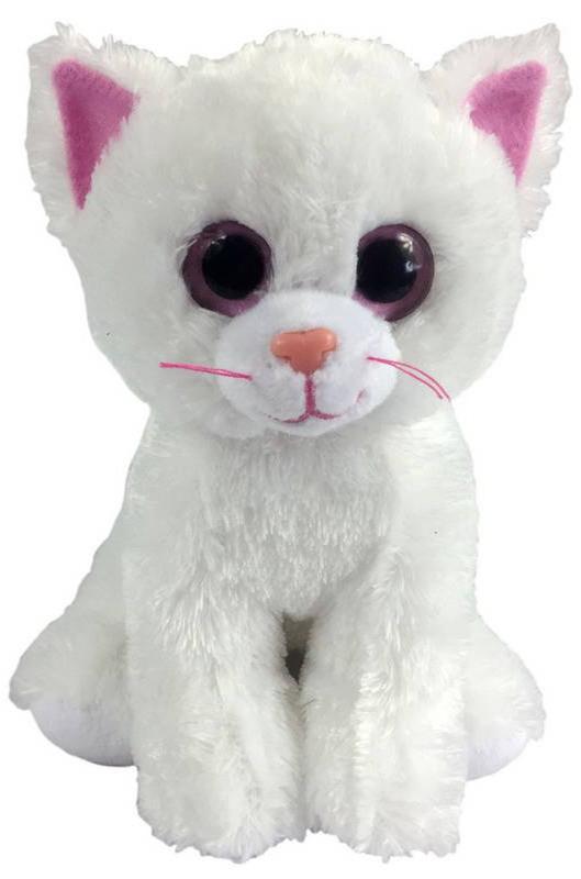 Мягкая игрушка ABtoys Котенок белый, 15 см Котенок белый, 15 см