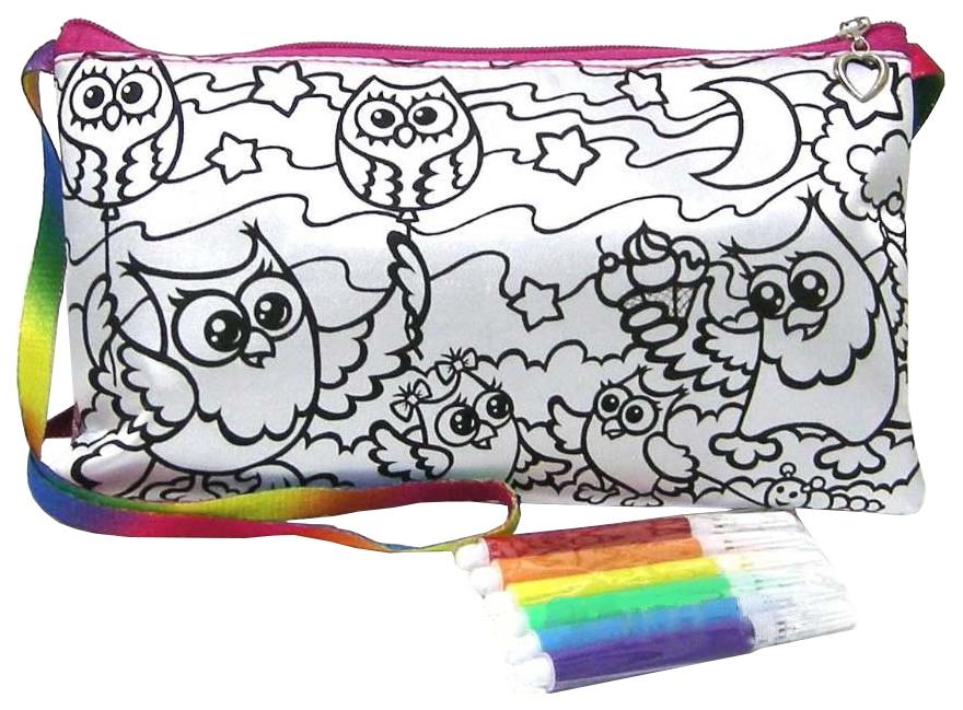 Купить Набор для рисования Danko Toys My Color Clutch клатч-пенал Совы, Наборы для рисования