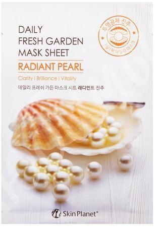 Купить Маска для лица тканевая жемчуг Skin Planet daily fresh garden mask sheet RADIANT PEARL, Mijin