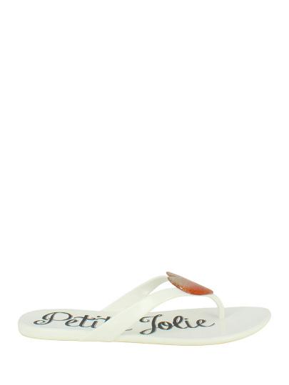 Шлепанцы женские Petite Jolie 49413 белые 36 RU