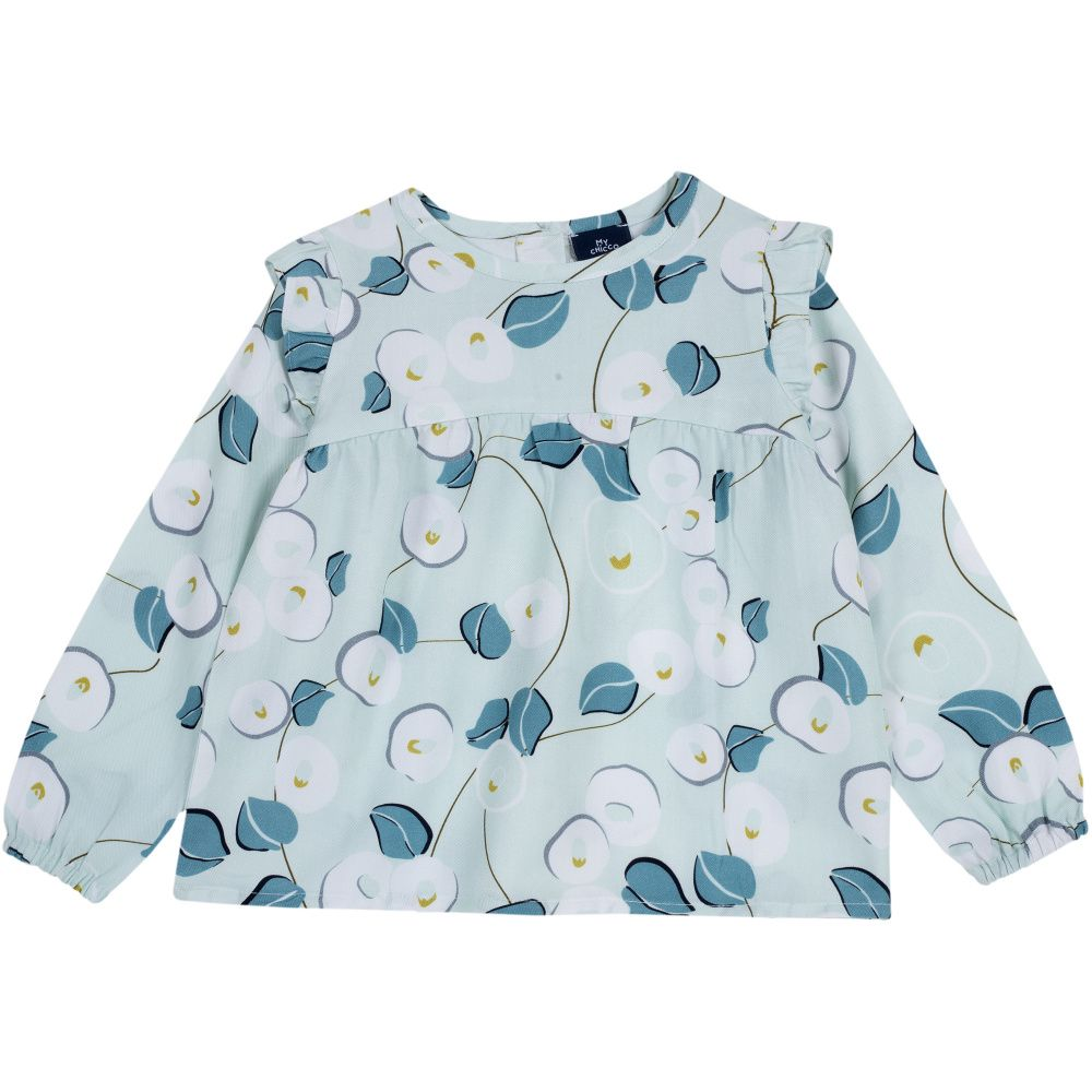 Купить 9054440, Блузка Chicco р.092 цвет бело-голубой, Кофточки, футболки для новорожденных