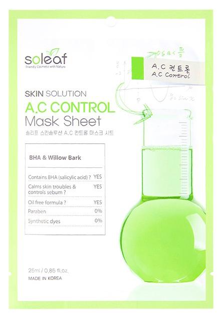 Маска для лица Soleaf Skin Solution A.C Control Mask Sheet 25 мл