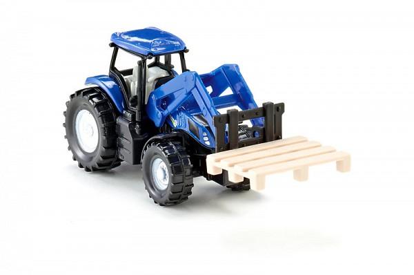 Купить Металлическая модель Siku New Holland Трактор с вилами для поддонов 1:87, Строительная техника