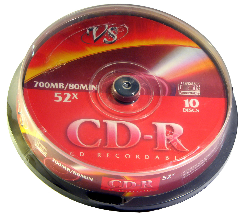 VS CD R 700Mb 52x 10 шт