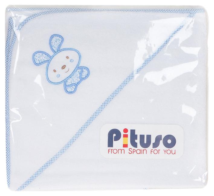 Пеленка для купания PITUSO махровая На лужайке, цв. Голубой