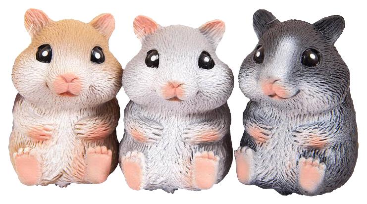 Купить Игрушка-антистресс Junfa toys Тянучка Nature world Хомячок, 3 вида, Мягкие игрушки антистресс