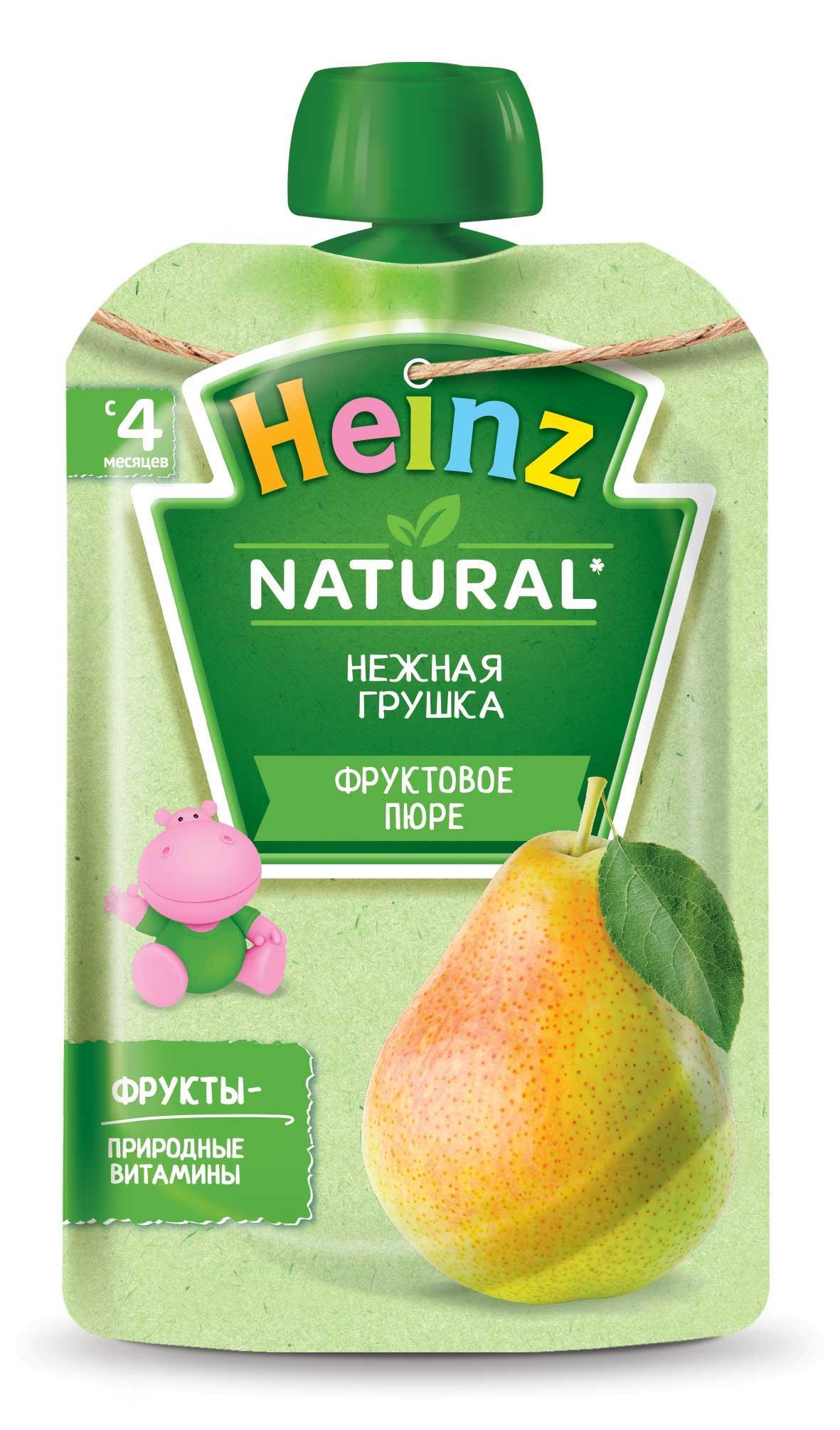 Купить Пюре фруктовое Heinz Нежная грушка с 4 месяцев 12шт, Фруктовое пюре