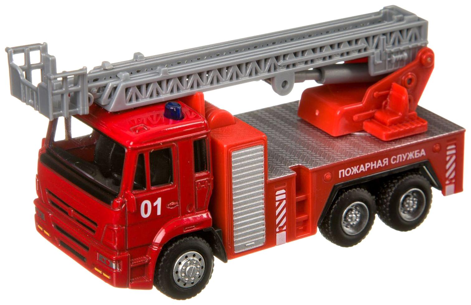 Купить Инерционная машина Play Smart автопарк пожарная служба 1:54 6556, PLAYSMART, Спецслужбы