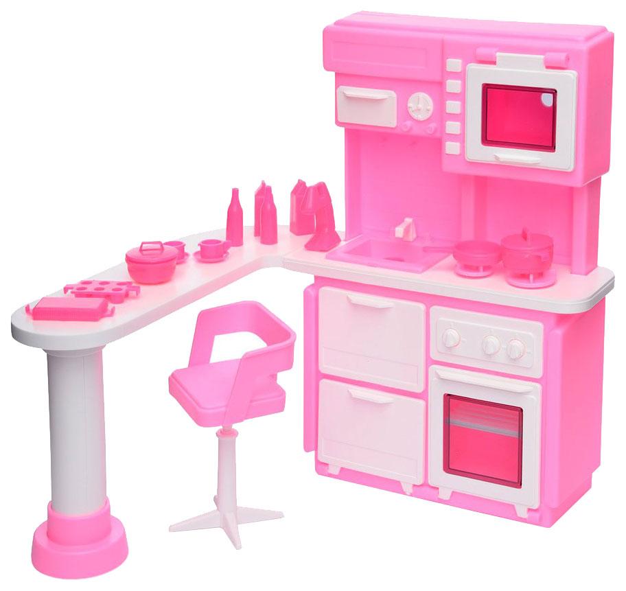 Купить Кухня для куклы, цвет: розовый, Огонек, Аксессуары для кукол