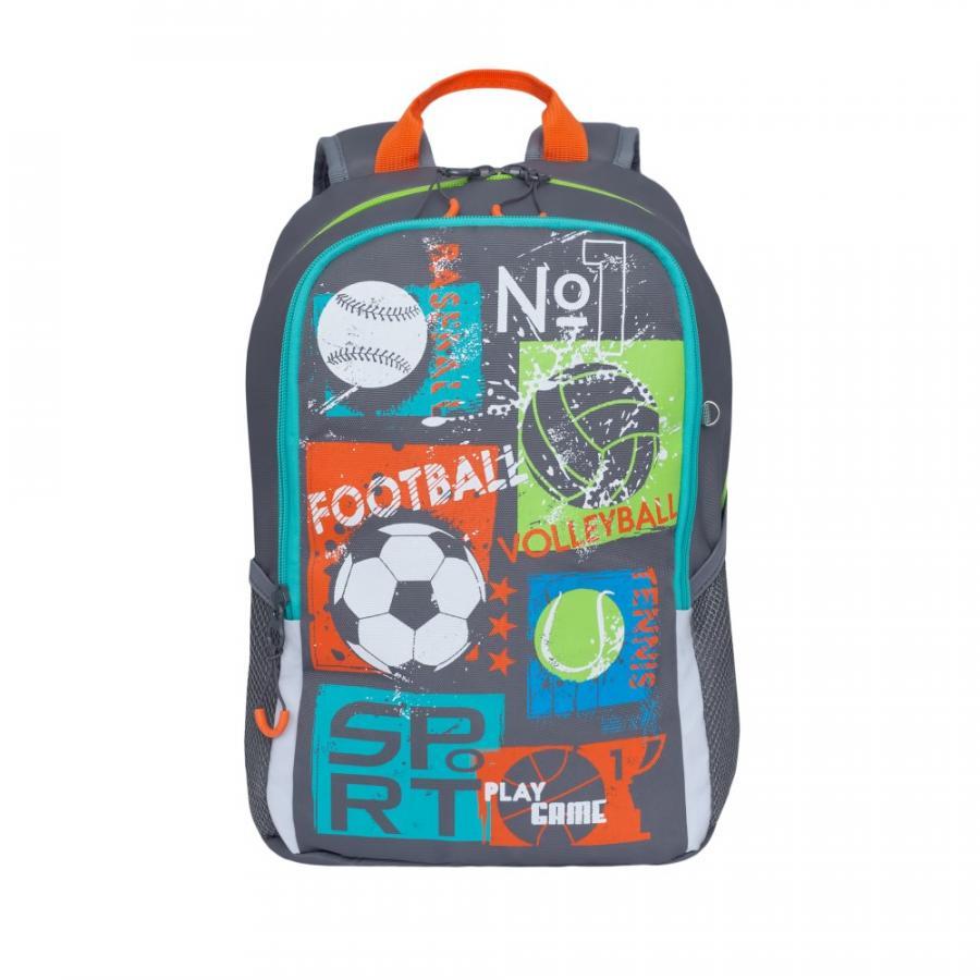 Купить Школьный Рюкзак для мальчика Grizzly Rb-960-1 Серый, Школьные рюкзаки и ранцы