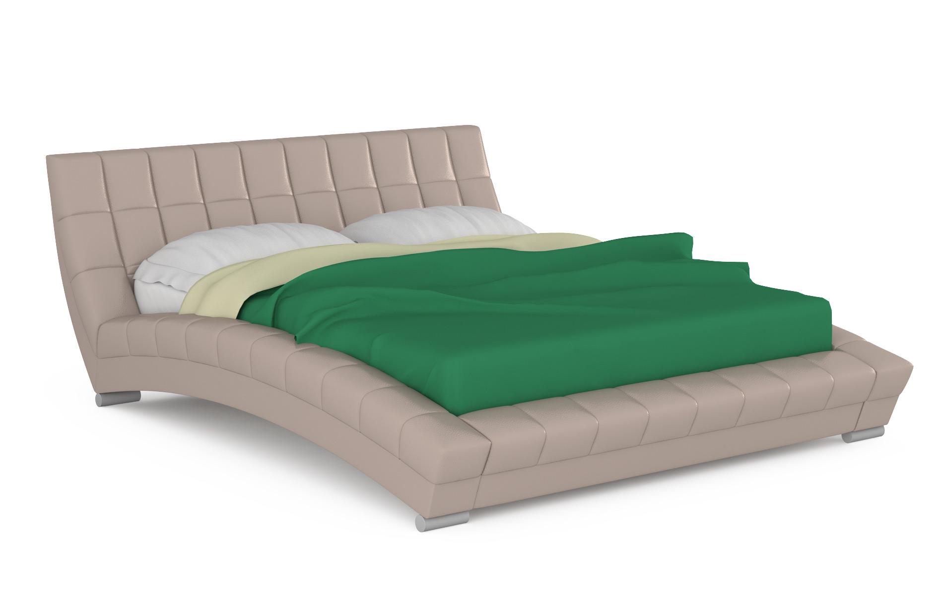 Кровать интерьерная Mobi Оливия 200х250х88 см, бежевый фото