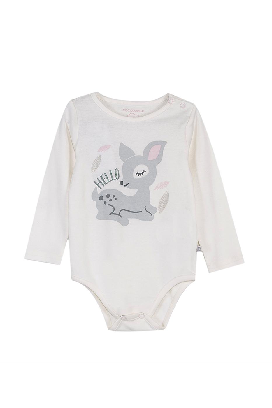 Купить Z19412101FOR, Боди для девочки Coccodrillo, 80 р-р, цв.экрю, Боди для новорожденных