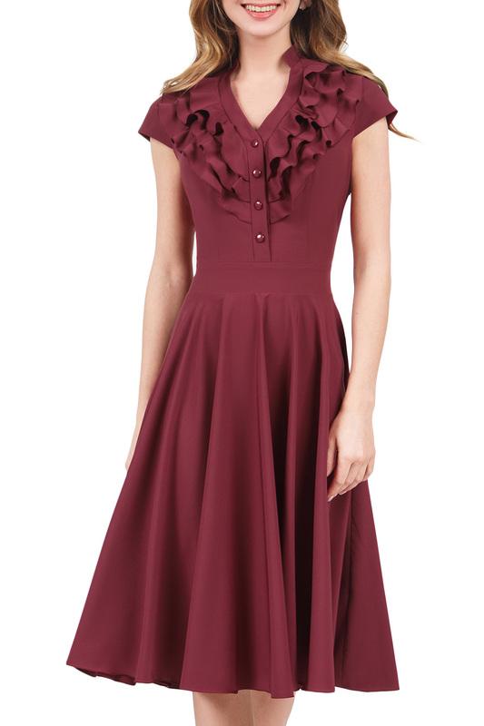 Платье женское MARICHUELL MPL00060L(FERNANDA) красное 50 RU фото
