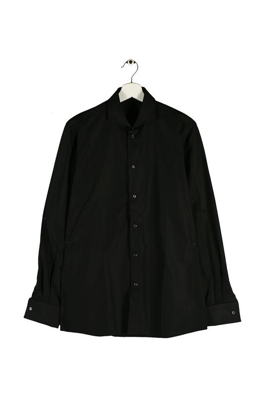 Сорочка мужская Bottega Veneta 297857VU9711000 черная 46 IT фото