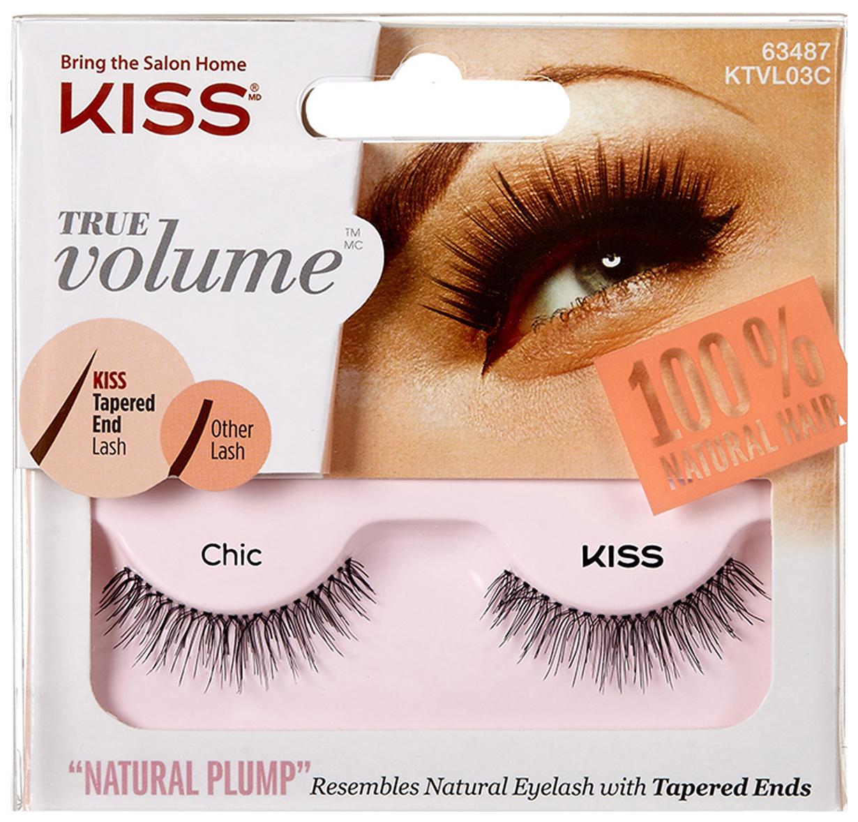 Купить Накладные ресницы KISS True Volume Lash Chic (KTVL03C) 2 шт