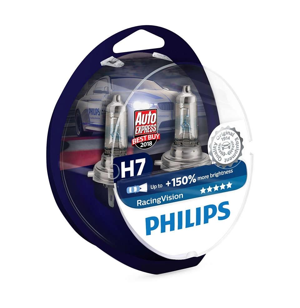 Комплект Галогенных Ламп 2шт H7 Racing Vision 150 Philips арт. 12972RVS2 фото