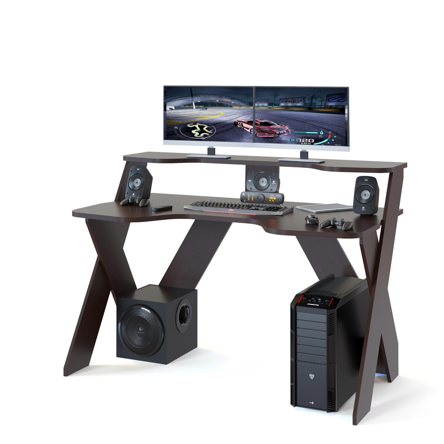 Компьютерный стол СОКОЛ КСТ 117 140x80x96, венге