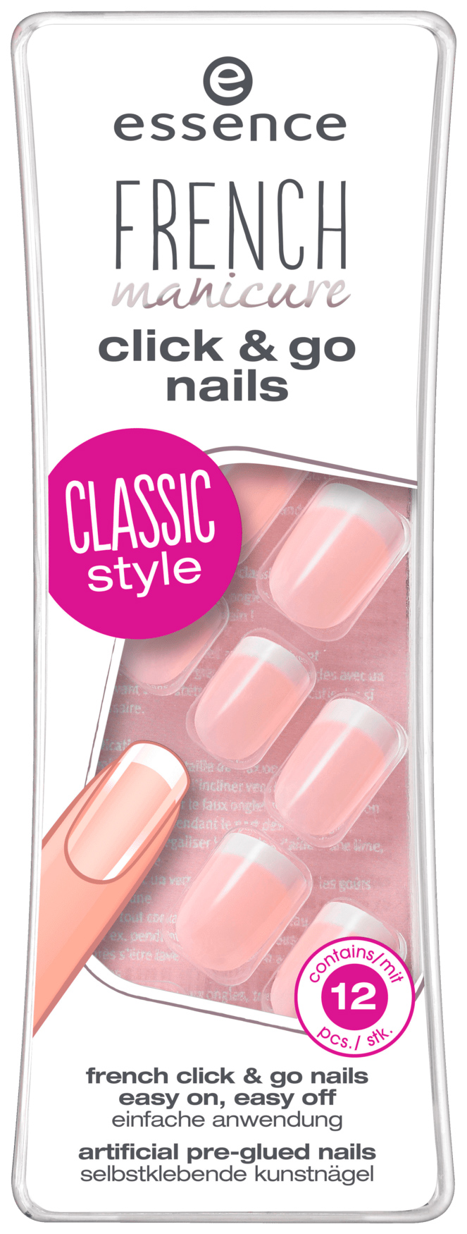 Накладные ногти Essence French Manicure Click#and#Go Nails 01 French 12 шт