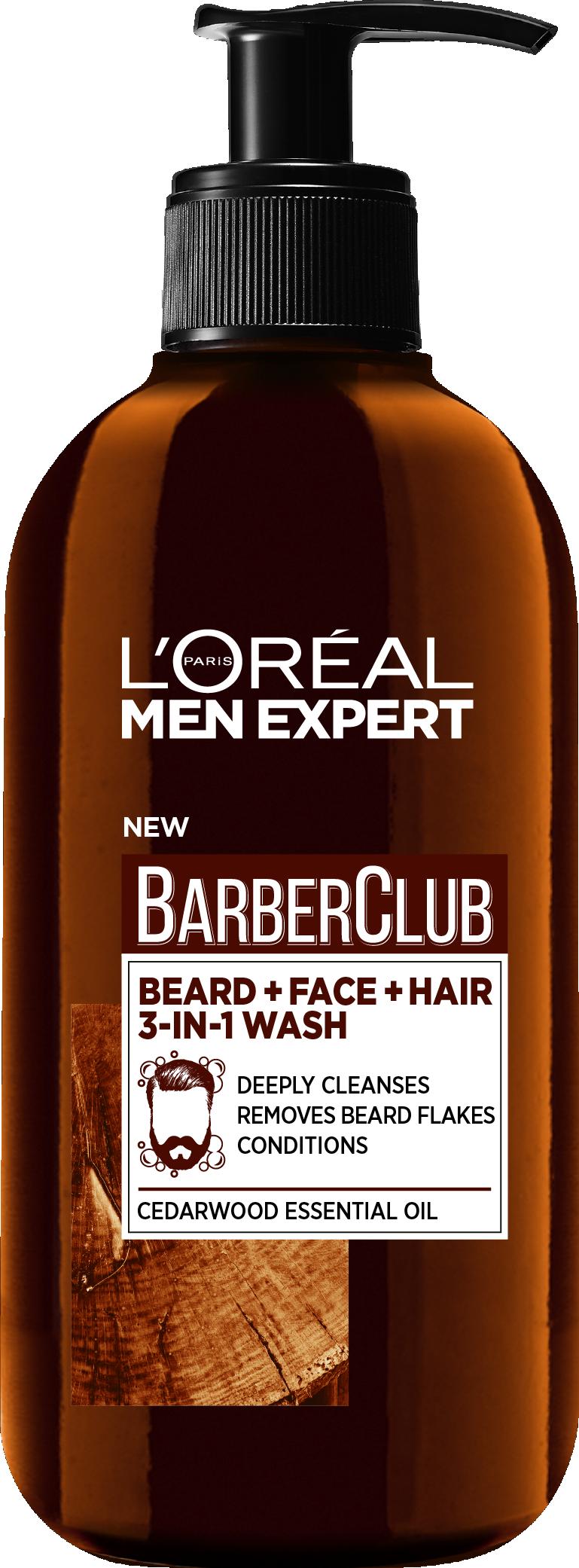Крем для бороды, волос и лица L\'Oreal Barber Club 3 в 1