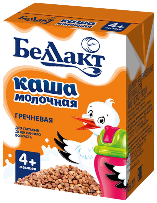 Каша молочная Беллакт стерилизованная для питания детей раннего возраста гречневая 207 гр