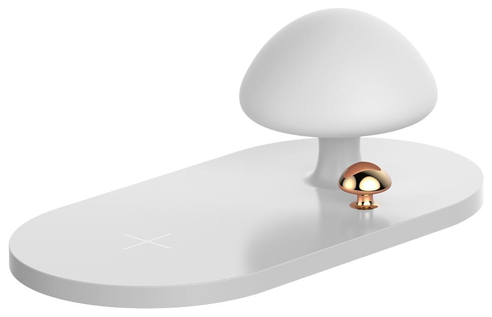 Беспроводное зарядное устройство Baseus Mushroom Lamp Desktop