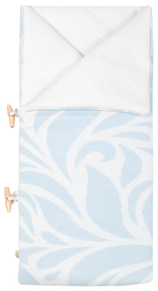 Конверт одеяло с шапочкой Миндаль голубой Сонный Гномик