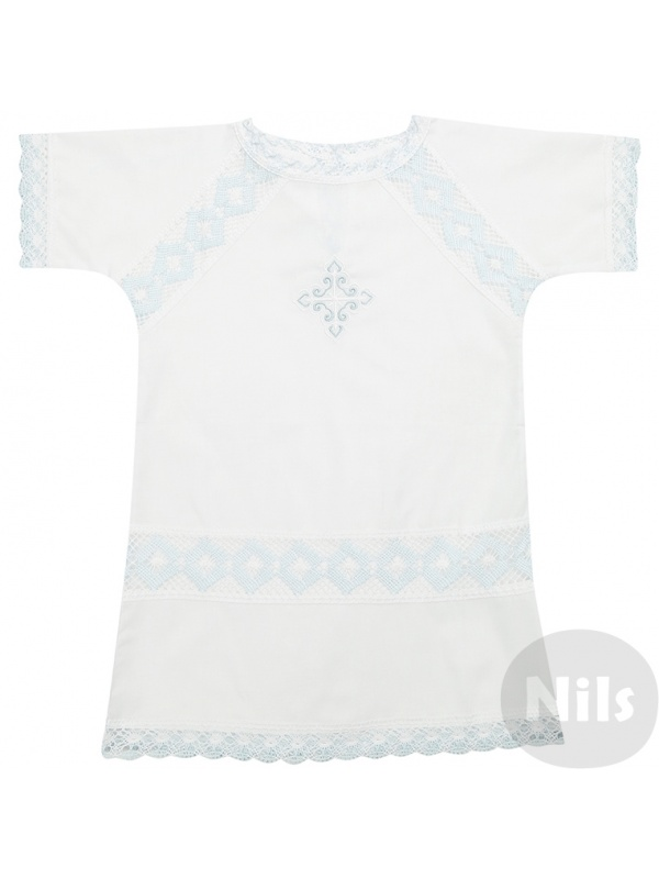 Купить Рубашка ДЛЯ КРЕЩЕНИЯ Голубой р.68, Для Крещения, Детские блузки, рубашки, туники
