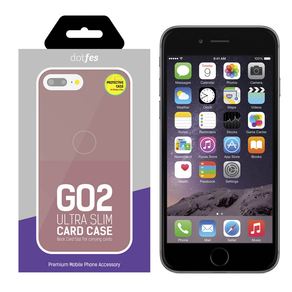 Чехол Dotfes G02 Carbon Fiber Card Case для iPhone 6 Plus/6s Plus (rose gold)