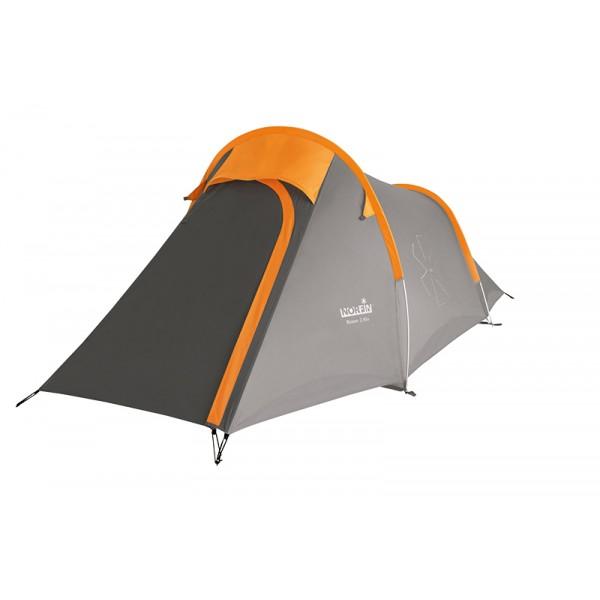 Палатка Norfin Roxen Alu NS двухместная серая/оранжевая