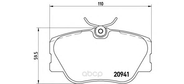 Тормозные колодки дисковые brembo P50008
