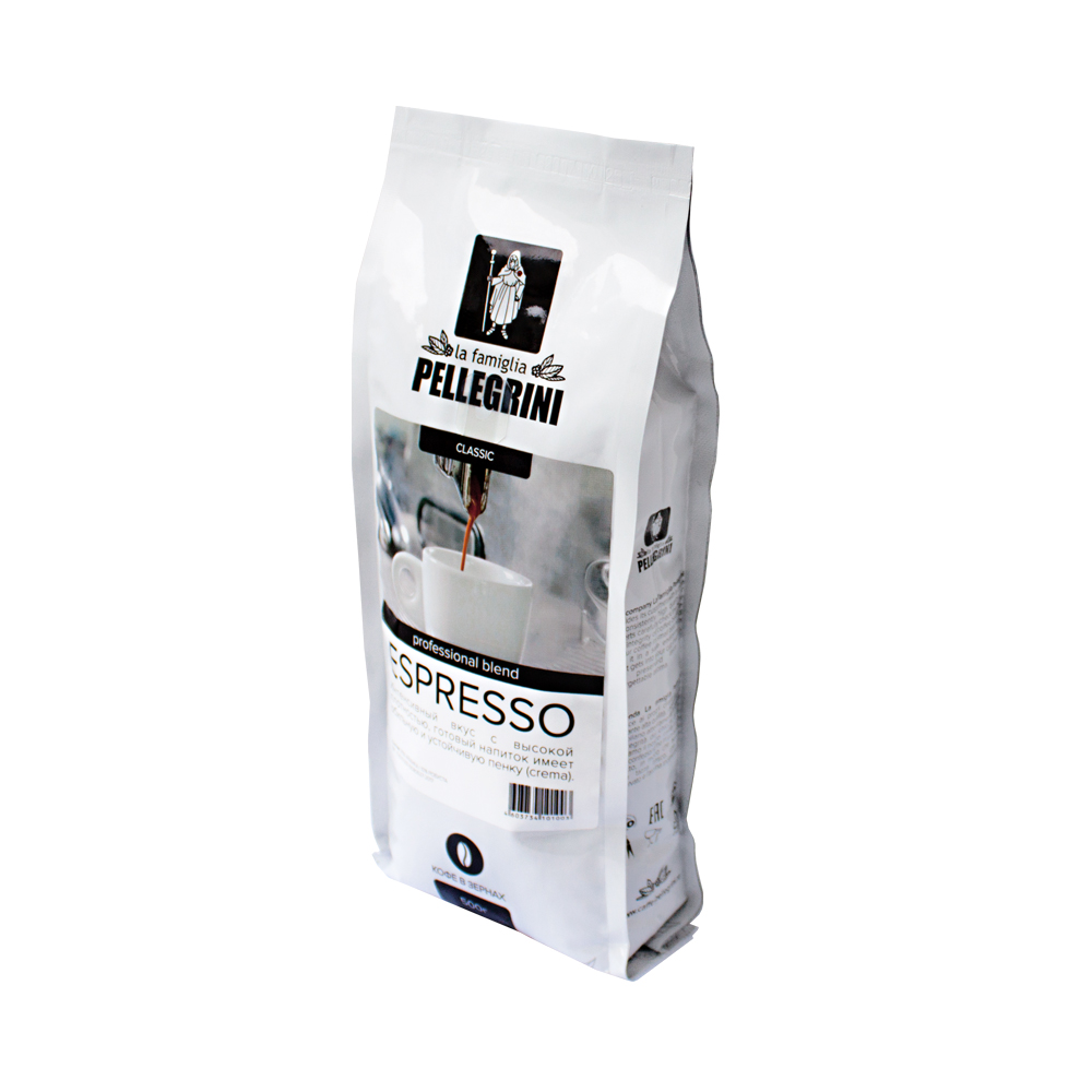 Кофе зерновой La famiglia Pellegrini  espresso professional blend 500  г