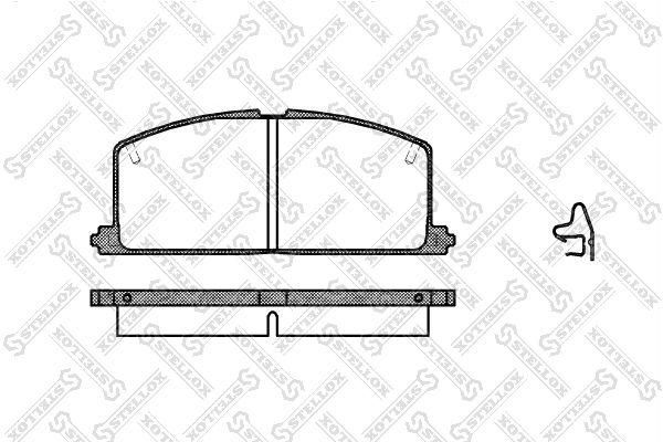 Комплект тормозных дисковых колодок Stellox 178 004-SX