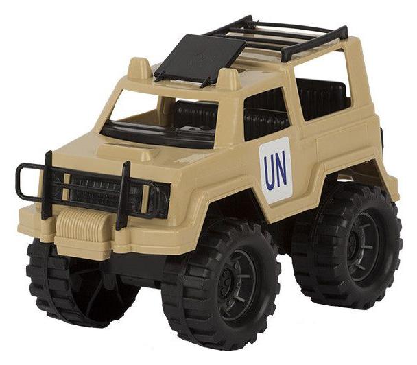 Джип игрушечный Совтехстром Миротворец коричневый фото