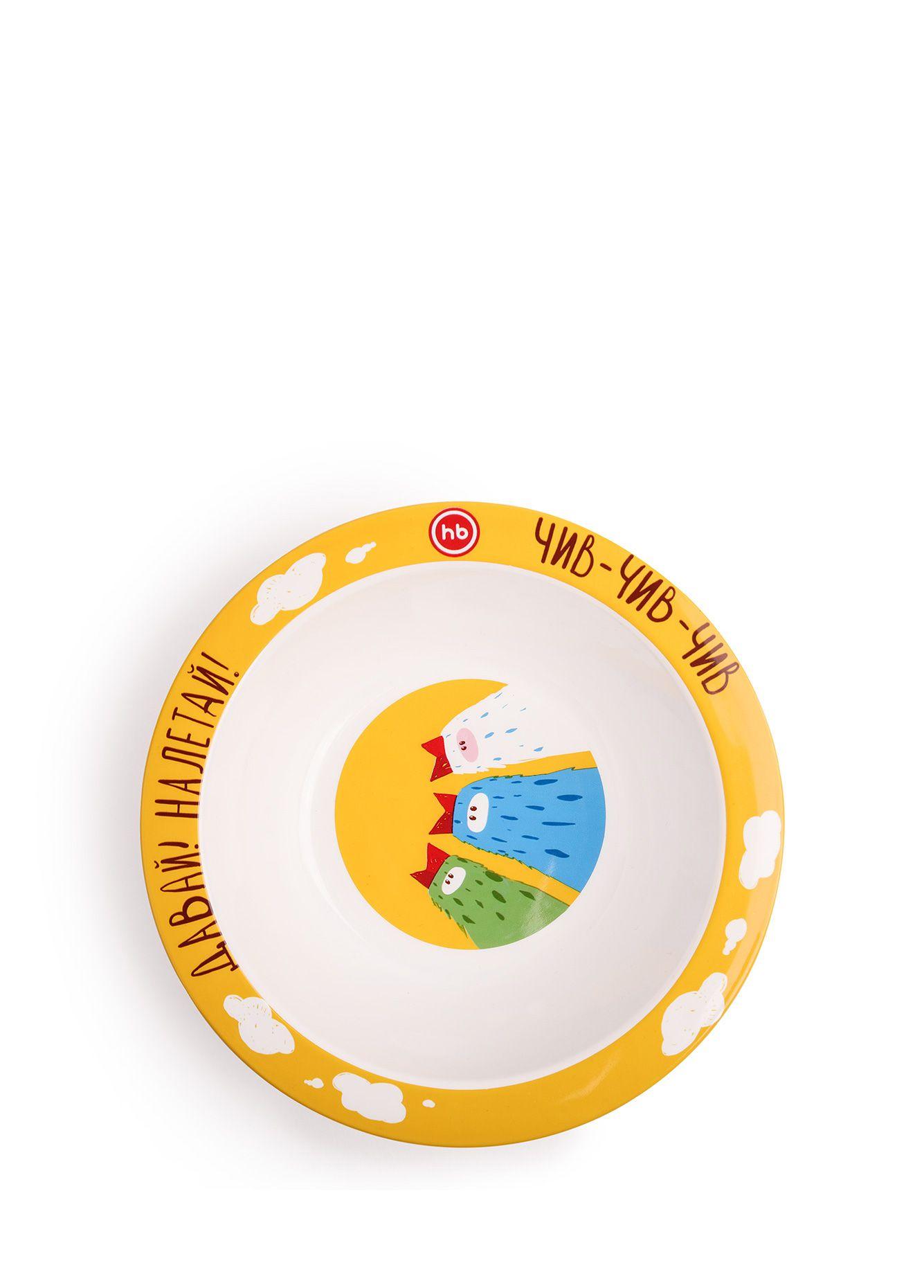 Купить Глубокая тарелка Happy Baby FEEDING BOWL Birds, Детские тарелки